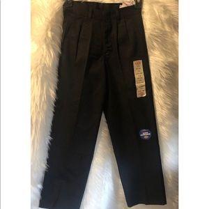 Dickies black pleated front pants 10RG